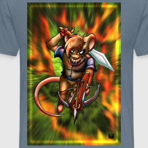 Medieval Mouse striking - Men's Premium T-Shirt