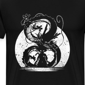 Silhouette of Dragon Ball - Men's Premium T-Shirt
