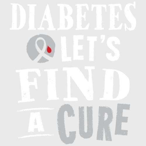 Diabetes Ribbon Cure Slogan Support