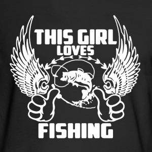 Loves Fishing Shirt - Men's Long Sleeve T-Shirt