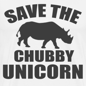 SAVE THE CHUBBY UNICORN - Men's Premium T-Shirt