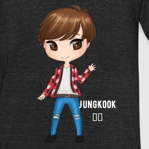 BTS Fire Jungkook - Unisex Tri-Blend T-Shirt by American Apparel