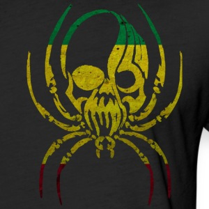 RASTA FLAG SPIDER SKULL T-Shirts - Fitted Cotton/Poly T-Shirt by Next Level