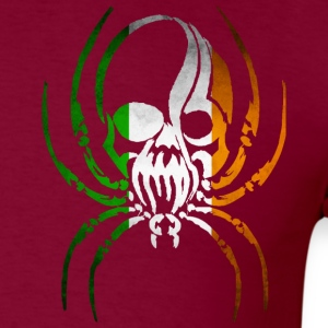 IRELAND SPIDER SKULL FLAG T-Shirts - Men's T-Shirt