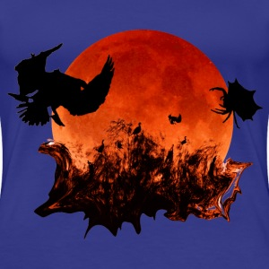 Blood Moon Eclipse Women's Premium Royal Blue Te - Women's Premium T-Shirt