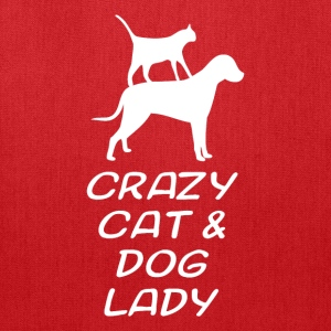 CRAZY CAT & DOG LADY - Tote Bag