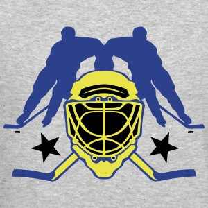 hockey player lacrosse helmet Long Sleeve Shirts - Crewneck Sweatshirt