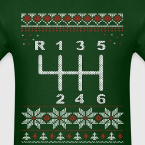 6 Speed Gear Shift Christmas T-Shirt - Men's T-Shirt