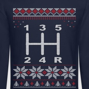 5 Speed Gear Shift Xmas Long Sleeve Shirts - Crewneck Sweatshirt