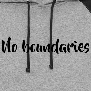 No boundaries - Colorblock Hoodie