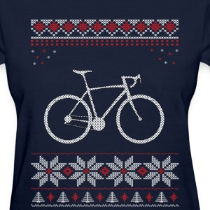 Bicycle Christmas Holiday T-Shirts - Women's T-Shirt