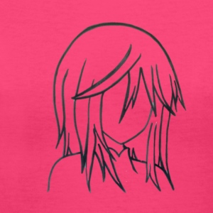 Manga Girl Womens Pink V-Neck T-shirt - Women's V-Neck T-Shirt