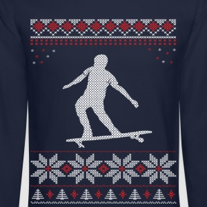 Longboard Christmas Xmas Long Sleeve Shirts - Crewneck Sweatshirt
