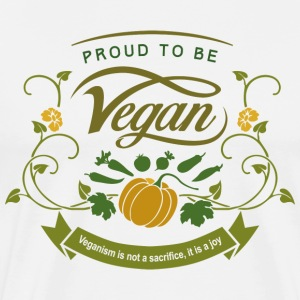 Proud to be Vegan - Men's Premium T-Shirt