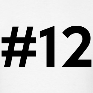 #12 (number twelve) T-Shirts - Men's T-Shirt