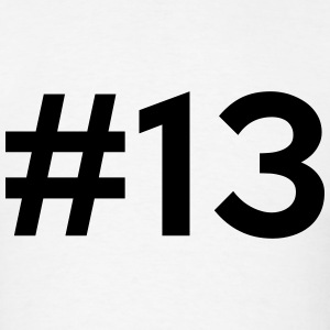 #13 (number thirteen) T-Shirts - Men's T-Shirt