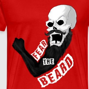 Fear The Beard With White Typography - Men's Premium T-Shirt