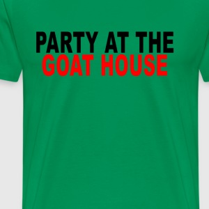party_at_the_goat_house_ - Men's Premium T-Shirt