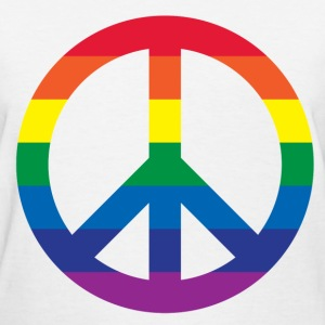 Rainbow Peace Sign - Women's T-Shirt