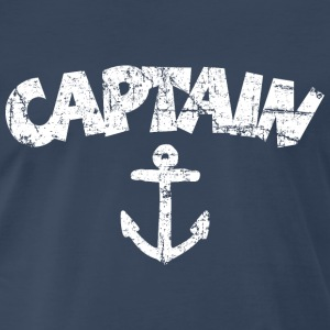 Captain Anchor Vintage White T-Shirts - Men's Premium T-Shirt