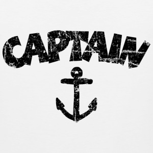 Captain Anchor Vintage Black Sportswear - Men's Premium Tank