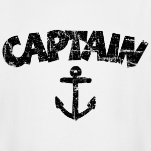 Captain Anchor Vintage Black T-Shirts - Men's Tall T-Shirt