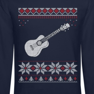 Ukulele Christmas Sweater Long Sleeve Shirts - Crewneck Sweatshirt