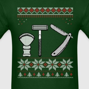 Wet Shaving Christmas T-Shirts - Men's T-Shirt