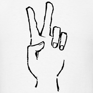 Peace Hand Drawing T-Shirts - Men's T-Shirt