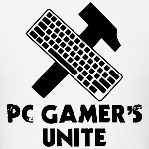 PC GAMER'S UNITE (Soviet Union Computer Symbol) T-Shirts - Men's T-Shirt