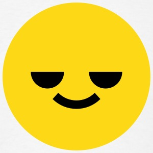 Relaxed Emoticon Circle Face Smiley T-Shirts - Men's T-Shirt