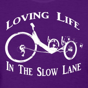 Slow Ride (Womens White Ink) - Women's T-Shirt