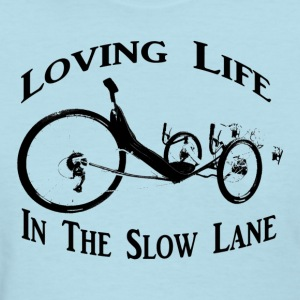 Slow Ride (Womens Black Ink) - Women's T-Shirt
