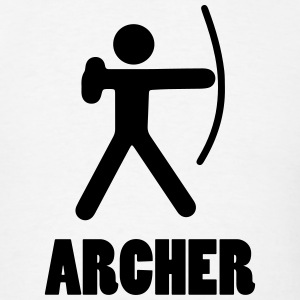 ARCHER (Archery Stickman/Stickfigure) T-Shirts - Men's T-Shirt