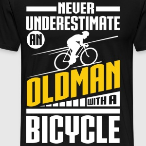 Old Man With Bicycle T-Shirts - Men's Premium T-Shirt