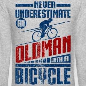 Old Man With Bicycle Long Sleeve Shirts - Crewneck Sweatshirt