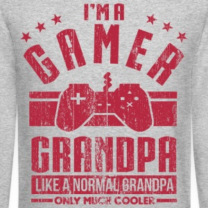 Gamer Grandpa Long Sleeve Shirts - Crewneck Sweatshirt