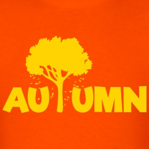 AUTUMN (Tree Leaves Falling) Art T-Shirts - Men's T-Shirt