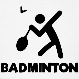 BADMINTON (stickfigure / stickman) T-Shirts - Men's T-Shirt