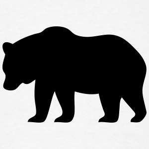 Bear Silhouette T-Shirts - Men's T-Shirt