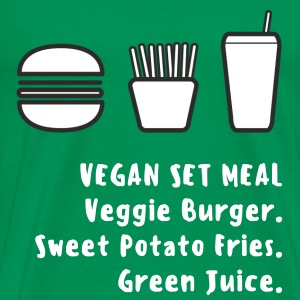 """Vegan Set Meal"" Mens Fitted Cotton Tee - Men's Premium T-Shirt"