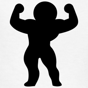 Bodybuilding Stickman / Stickfigure Kids' Shirts - Kids' T-Shirt
