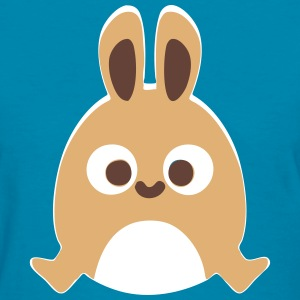 Happy Cute Bunny Jump Cartoon T-Shirts - Women's T-Shirt