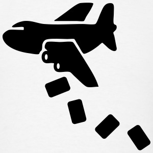 Airplane Dropping Cargo Care Packages T-Shirts - Men's T-Shirt