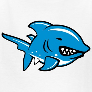 Cartoon Angry Shark Kids' Shirts - Kids' T-Shirt