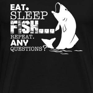 Eat Sleep Fishing Repeat - Men's Premium T-Shirt