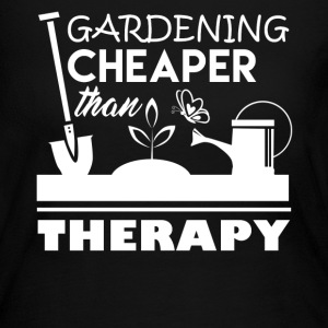 Gardening Cheaper Than Therapy - Women's Long Sleeve Jersey T-Shirt