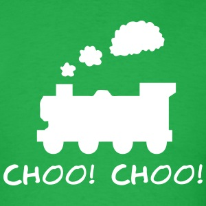 Choo! Choo! Steam Train Silhouette T-Shirts - Men's T-Shirt