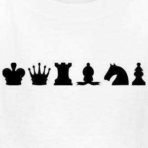 Chess Set (Pieces) Silhouettes Kids' Shirts - Kids' T-Shirt