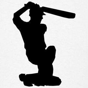 Cricket Silhouette T-Shirts - Men's T-Shirt